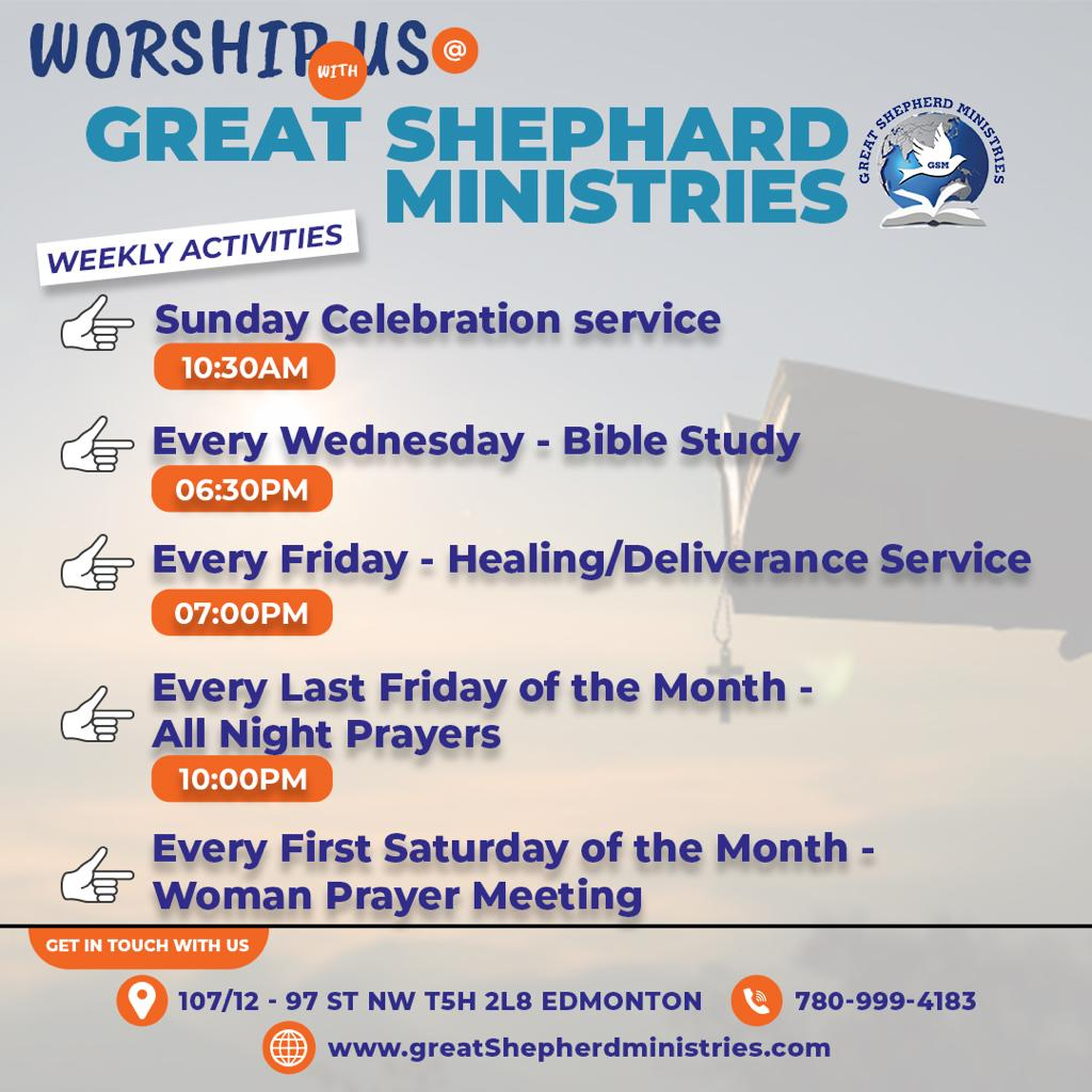 Worship with us at Great Shepherd Ministries